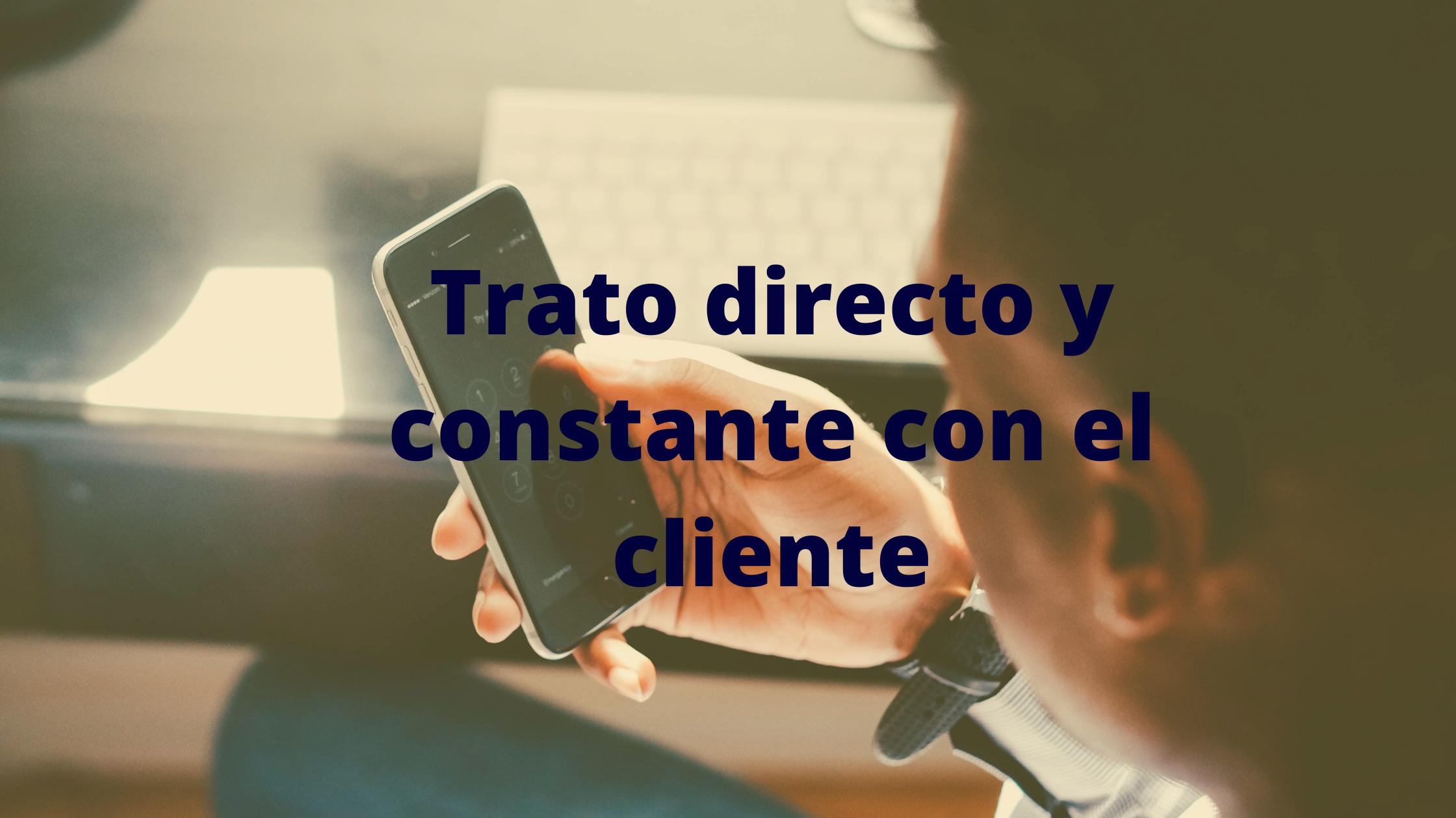 en confiasistencia hay un trato directo y constante con el cliente