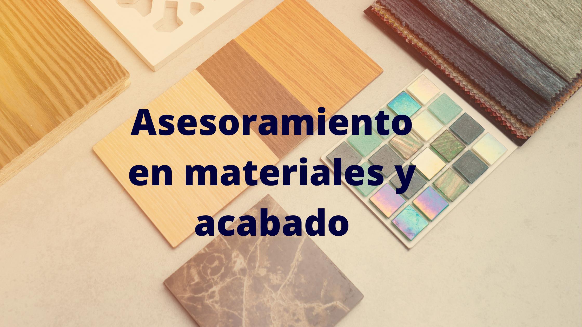 confiasistencia se encarga del asesoramiento en materiales y acabado