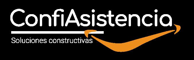 logotipo confiasistencia soluciones constructivas blanco